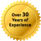 over 30 years of experience